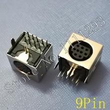 10 cái/lốc MD Nhà Nữ DIN 9 Mini Pin S video Adapter Ổ Cắm Mini DIN Cảng Nối