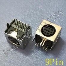 10 sztuk/partia MD obudowa kobieta DIN 9 Mini Pin S wideo gniazdo adaptera Mini DIN złącze portu