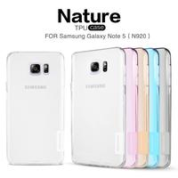 Free Shipping Nillkin Nature Series TPU Case For Samsung Galaxy Note 5 N920 Soft Back Cover