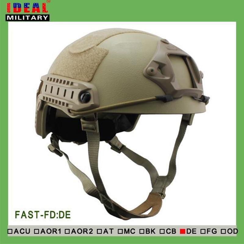Tactical Hunting NIJ IIIA FAST Ballistic Helmet With Report Ops Core FAST Ballistic Helmet Military Bulletproof Helmet Tan
