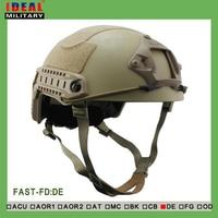 Tactische Jacht NIJ IIIA FAST Ballistic Helm Met Report Ops Core FAST Ballistic Helm Militaire Bulletproof Helm Tan