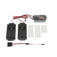 Car Throttle Linkage Groups Engine Sound Simulator With 2 Speakers For RC Sports Car Model Part