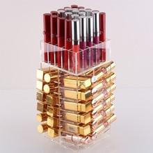 高容量回転アクリル化粧オーガナイザー収納ケースリップスティックホルダーボックス回転リップグロスオーガナイザー表示ボックス
