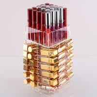 Haute capacité rotatif acrylique maquillage organisateur mallette de rangement étui de rouge à lèvres boîtes rotatives brillant à lèvres organisateur boîtes d'affichage