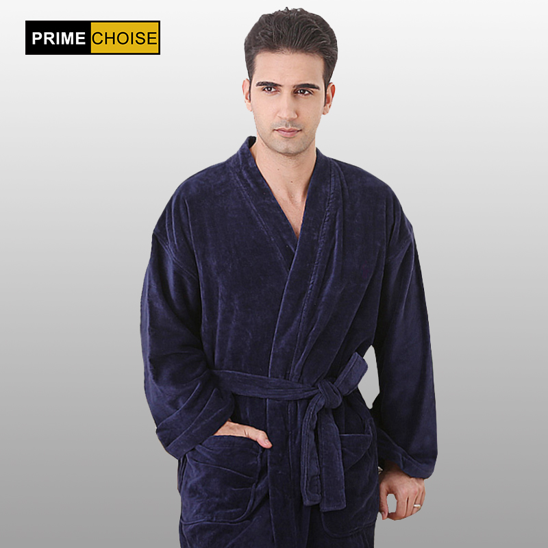 none collar bathrobe man XXXL very big plus size terry cotton no collor bathrobe ...