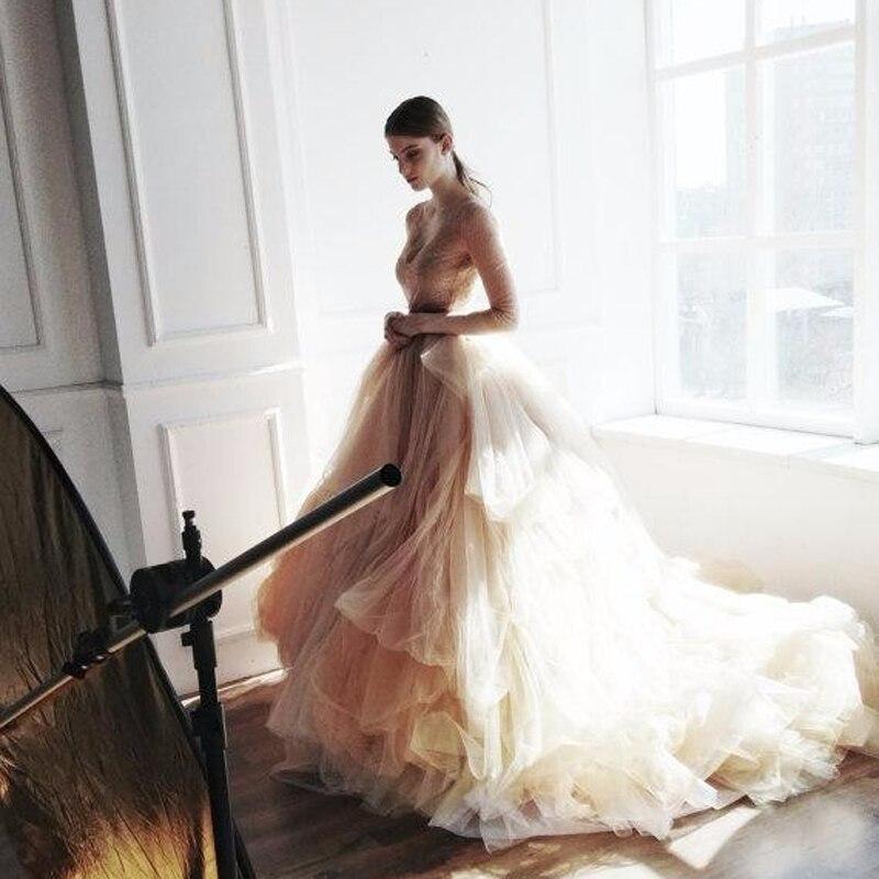 Rustique Robes De Bal Pour Nuptiale Long Tulle Jupes Élastique Cour Train Romantique Jupe Haut de Gamme Assez Maxi Longue Jupe Pour de mariage