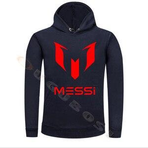 Image 4 - Lionel Messi Calcio Con Cappuccio Unisex Adulto Argentina Barcelona Hoody Gioventù