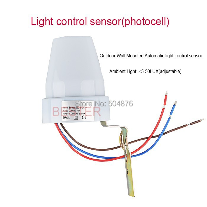 Motion Sensor Light Switch Wiring Diagram Refrigerator Compressor Start Relay Sensky Waterproof Outdoor Mounted 220v Ac Automatic Photocell For Led Lights 4pcs Bs302 In Sensors From Electronic Components