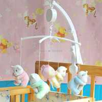 Baby Infant Rotary Mobile Crib Bed Clockwork Movement Music Box Kids Develop Toy -B116