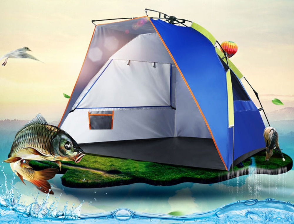 DANCHEL 3-4 person automatic fishing tents sun shelter canopy tent 3 4 sun beach tents sun shelter outdoor portable camping tent summer garden awning fishing shade canopy tent strandtent