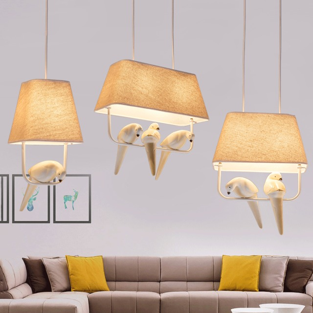 American style cloth pendant light restaurant cloth shade resin bird lighting aisle porch corridor lamp pendant lamps ZA american restaurant ceramic pendant lamps balcony aisle bar classical home bedroom corridor porch bird pendant light za9197