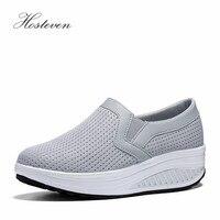 Hosteven Women S Shoes Casual Platform Sneaker Women Vulcanize Shoes Ladies Air Mesh Shoes Woman Solid
