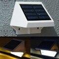 Painel de energia Solar 4 LED cerca Gutter luz jardim parede exterior Lobby Pathway lâmpada frio / quente branco 29