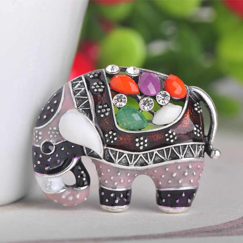 Blucome Thailandia Elefante Spilla a Forma di Variopinta Dello Smalto Spille in Resina Spilli per Le Donne I Bambini Sciarpa Vestiti Cappello Accessori Dei Monili
