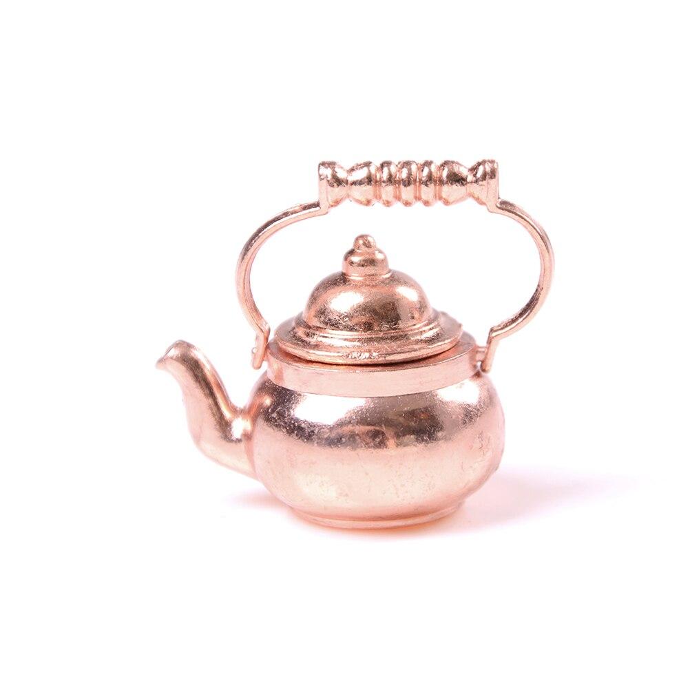 Classic Toys 1/12 Dollhouse Miniature Copper Tea Kettle/Tea Pot Pretend Play Furniture Toys for Miniature Kitchen Accessory