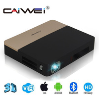 CAIWEI S7 android tv 1080 Full HD Video Nhỏ 3D Chiếu Bluetooth 4.0 Wifi Home Theater DLP Projector Beamer