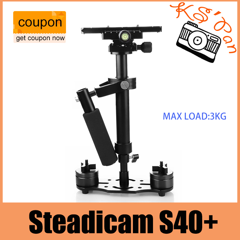 DHL S40+ 0.4M 40CM Fiber Handheld Steadycam Stabilizer For Steadicam for Canon for Nikon for GoPro AEE DSLR Video Camera s40 40cm professional carbon fiber mini dslr video camera dv camcorder stabilizer steadycam steadicam for canon sony nikon gopro