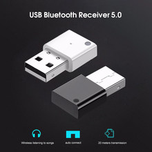 Bluetooth 5.0 Audio Receiver Usb Audio Dongle Adaptor Nirkabel Stereo untuk Mobil Aux Speaker Komputer PC Wireless Mouse(China)