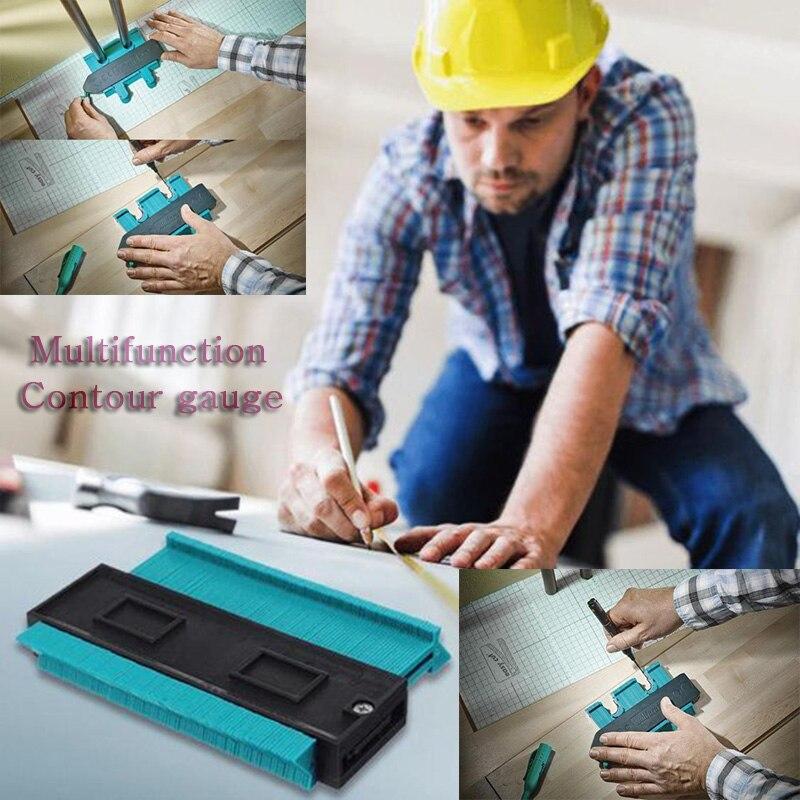 Leikuo Woodworking  Contour Gauge Multifunction Rangefinder  Tools Roulette Plastic Arc Gauges Profiles