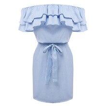 Koszulowa sukienka z uroczą falbana CLEO