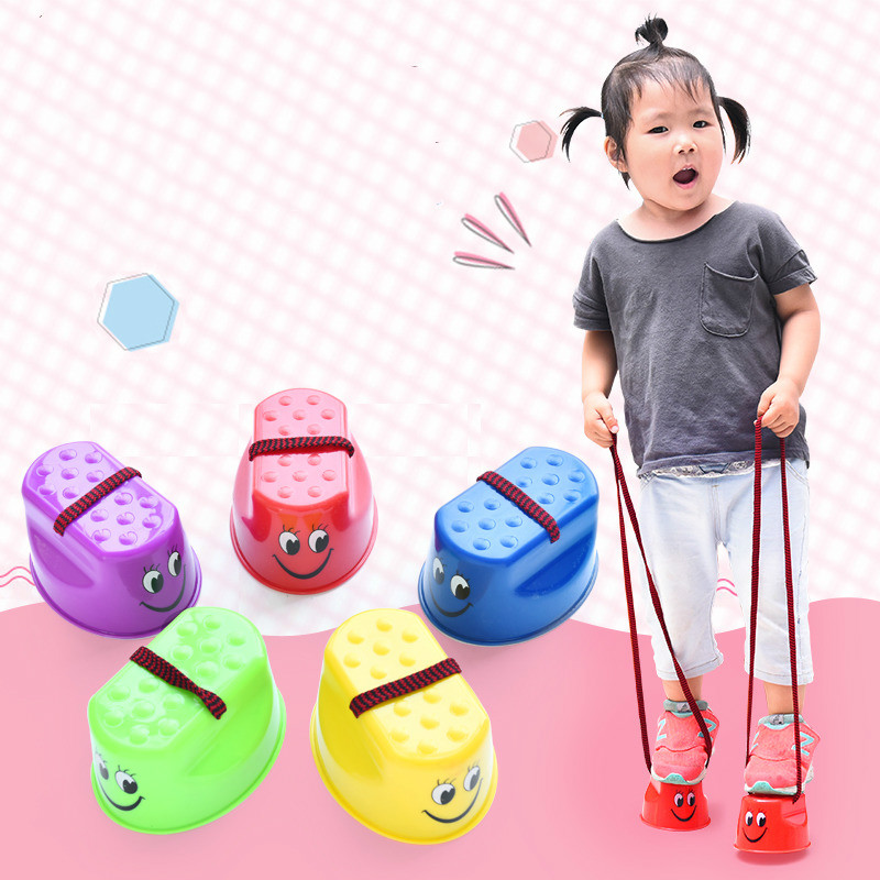 Amazing Foam Pogo Bounce Shoes Jumper Crazy Jumping Frog Jumping Shoes Children Kids Toys Outdoor Sport Training Balance Gift
