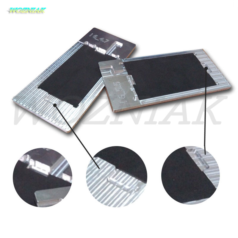 Wozniak OCA Adhesive Glue Polarized Film Removing Mold Mould Holder Scraper wiper Blade Iron Tool for iPhone 5 6 6s 7 plus LCD wozniak oca adhesive glue polarized film removing mold mould holder scraper wiper blade iron tool for iphone 5 6 6s 7 plus lcd