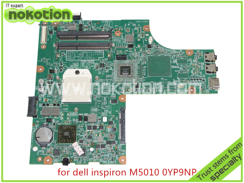 NOKOTION laptop motherboard for board Inspiron 15R M5010 CN-0YP9NP YP9NP 0YP9NP 09913-1 DG15 48.4HH06.011 ATI HD4200 DDR3 cn 0yp9np laptop motherboard for dell inspiron 15r m5010 yp9np 0yp9np 09913 1 dg15 48 4hh06 011 ati hd4200 ddr3 mainboard