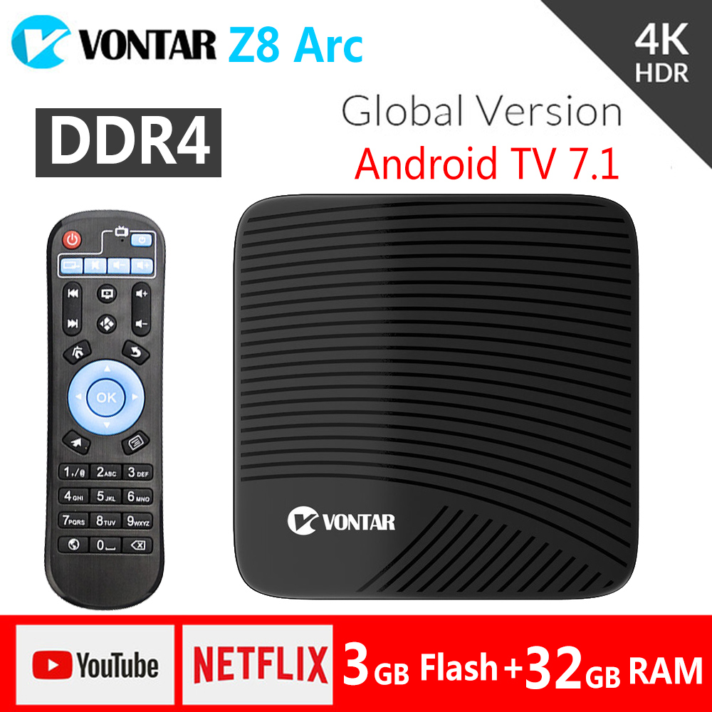 Z8 Arc 3GB/32GB Android 7.1 Smart TV Box 4K Amlogic S912 Octa Core DDR4 2.4/5GHz Dual WIFI BT4.1 pk M8S Pro l Media Player TVbox серьги топаз голубой огранка серебро 925 пр
