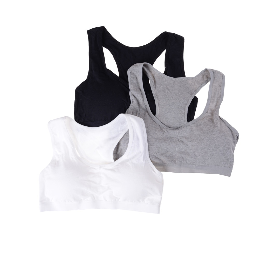 1 PC Cotton Sports Bra High Breathable Top Fitness Women Padded For Running Yoga Gym Seamless Crop Bra