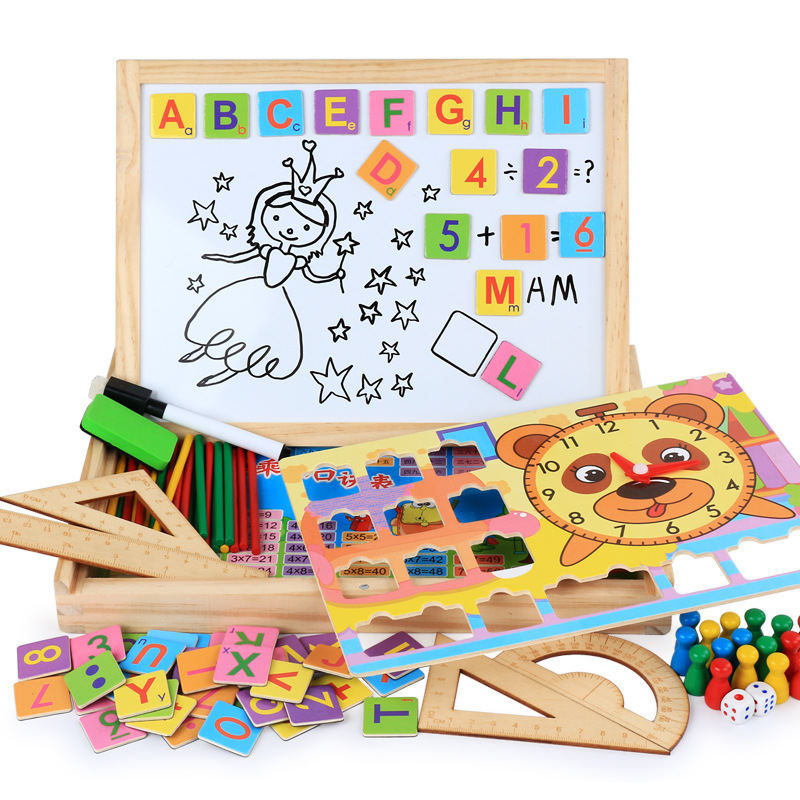 Montessori Toys Baby Intelligence Wooden Math Educational ...