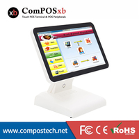 15 Inch Fanless POS Payment Systems Epos Cash Register With Customer Display POS Cash Register System POS1619P