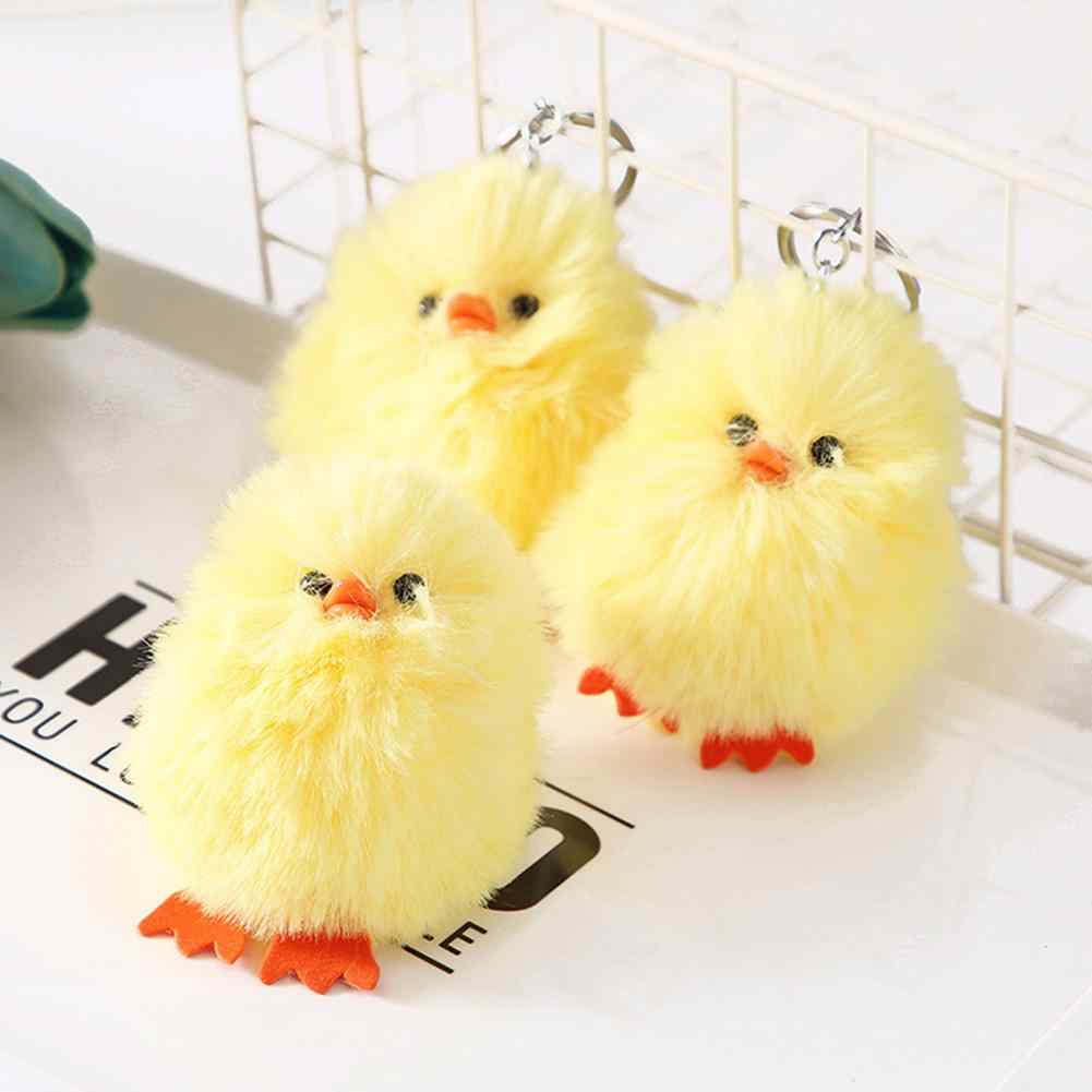 Cute Chick Plush Doll Pendant Car Keychain Key Ring Bag Hanging Decor Gift New Hot