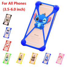 Cartoon Universal 3.5-6.0 inch Phone Cases Fundas For Samsung Glaxy S2 S3 S4 S5 Mini S6 S7 Edge Plus Case Silicon Back Cover