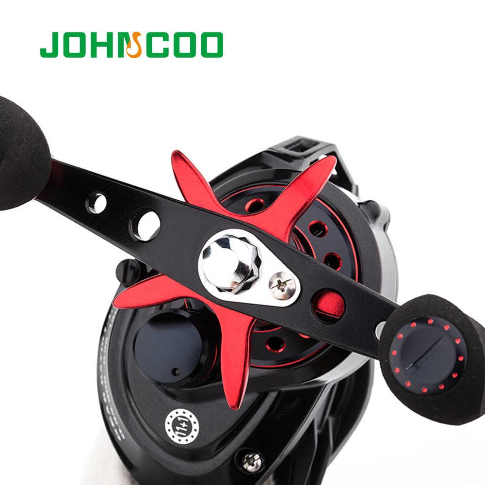 Johncoo Umpan Casting Reel Besar Permainan 13Kg Max Drag Laut Memancing Jig Reel 11 + 1 BB 7.1: 1 Aluminium Alloy Tubuh JIGGING Reel Pancing