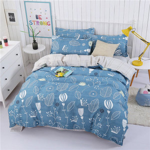 Image 4 - 4PCS Duvet Cover Set Fashion Family Bedding Sets Luxury Flat Sheet Bedding Linings Pillowcase Cover Sets, No Filler 2019 Bed Set