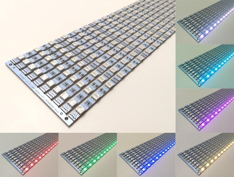 [Seven Neon]free shipping DC12V 500*6mm 30led/pcs 5050 RGB SMD LED Hard rigid strip led bar light with original CREE chip