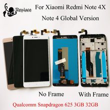 Voor Xiaomi redmi note 4X note 4 Global Versie Qualcomm Snapdragon 625 3GB 32GB lcd touch screen digitizer /met frame(China)
