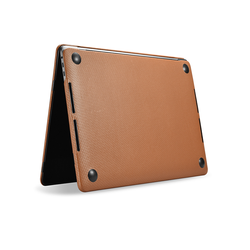 Housse pour ordinateur portable en cuir de vachette véritable pour Apple Macbook Pro 13 15 2018 2017 coque de protection pour Macbook A1706 A1708 A1989 A1707 A1990