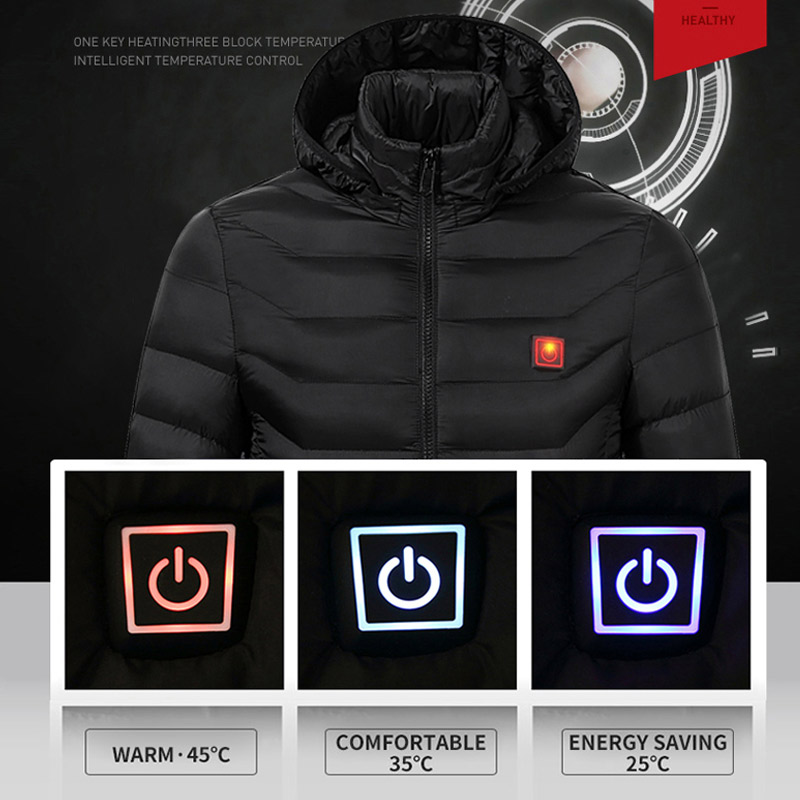 Image 5 - USB Smart Charging Heating Jacket Winter Thermal Clothing Body Heating Warm Thermostatic Clothes (Power bank not included)-in Safety Clothing from Security & Protection