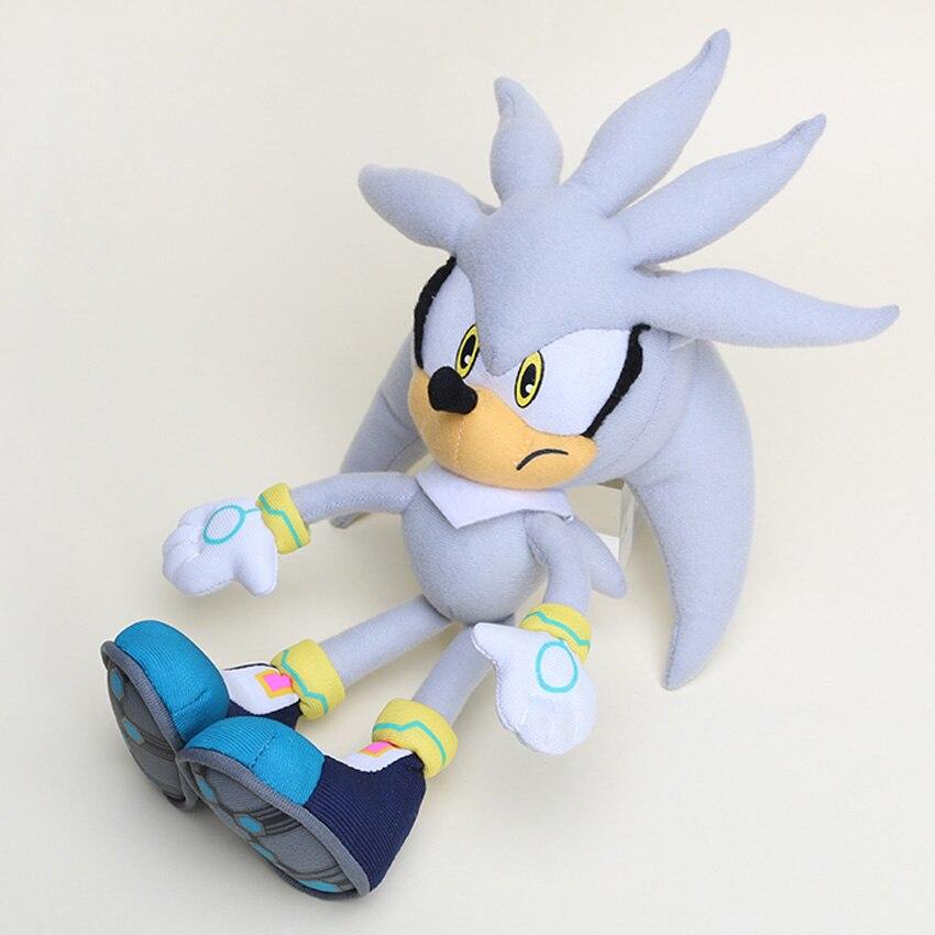 10pcs lot 32cm the Hedgehog Plush Toys gray shadow the Hedgehog Plush Soft Stuffed doll Toy