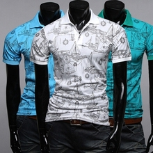 Trend of men's short sleeve for ebay selling foreign trade sources polos big yards men's clothing wholesale
