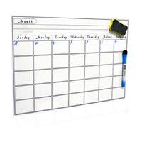 2019 Магнитный ежемесячный календарь, ежемесячный планировщик для дома, офиса, класса, многоразовые ПЭТ-пленки, офисные принадлежности