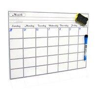 2019 Магнитный ежемесячный календарь, ежемесячный планировщик для домашнего офиса класса многоразовые ПЭТ пленка офисные принадлежности