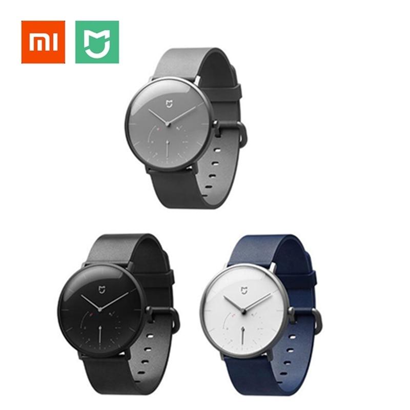 Original Xiaomi Mijia Smart reloj IP67 impermeable Smartwatch Bluetooth 4,0 3ATM cuarzo podómetro Wristband para Android IOS