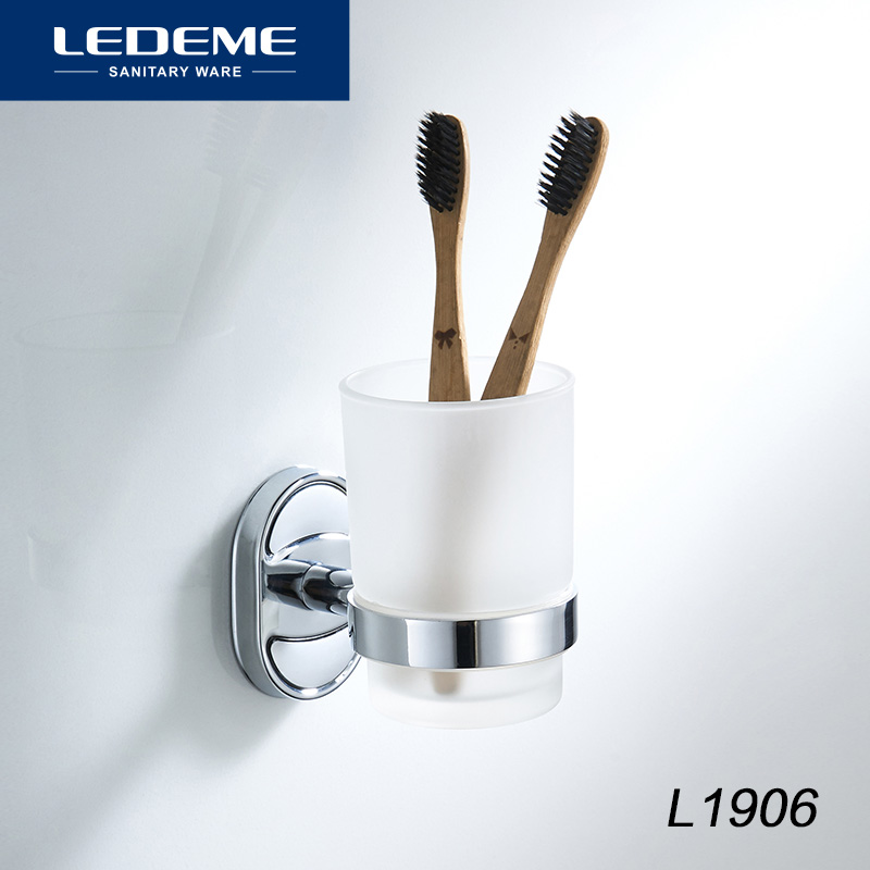 LEDEME Bath Polish Acrylic Glass Cup Holders Cup Tumbler Holder Toothbrush Glass Single Cup Holder Bathroom Accessories L1906