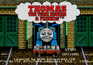 Thomas the Tank Engine & Friends 16 bit MD Game Card For Sega Mega Drive For Genesis