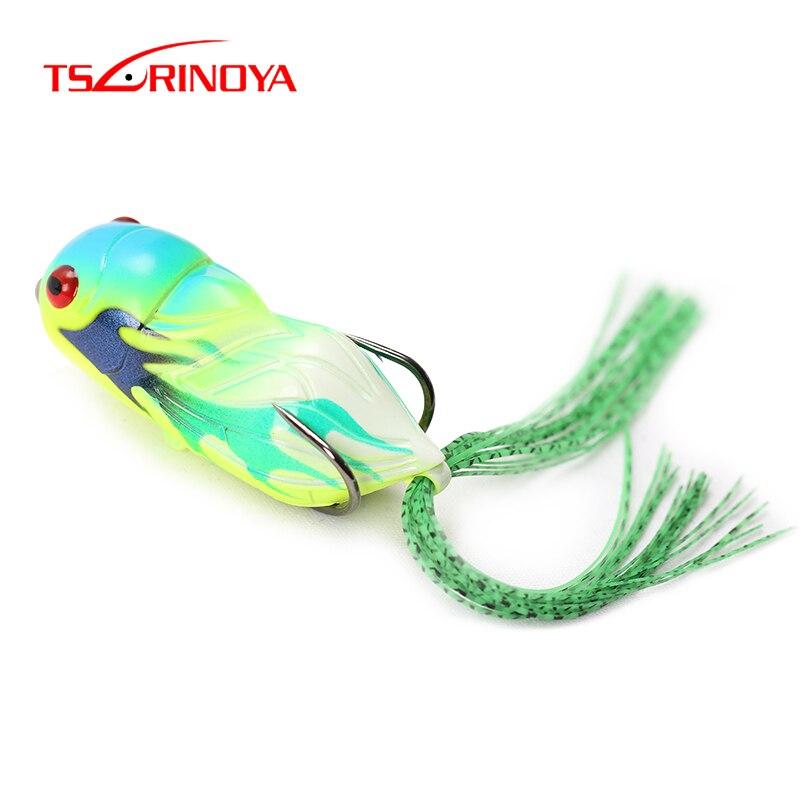 TSURINOYA Artificial Fishing Lure Cicada 65mm 15g Topwater Insect Bait Soft Lifelike 3D Eyes Snakehead Pesca Fish Popper Lure