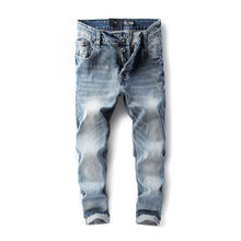 Orange Button Fly Dsel Brand Fashion Designer Jeans Men Straight Blue Color Printed Mens Jeans,100% Original Dsel Brand Jeans!