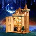 Ручной работы Кукольный Дом Diy миниатюрный Деревянный Кукольный Домик miniaturas Мебель Кукольный Дом Игрушки Для Детей Подарок На День Рождения K012
