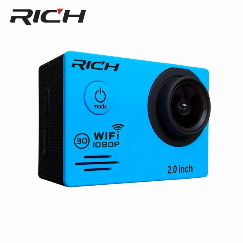 DHL 10pcs/lot RICH SJ7000Sports Cameras 1080P Action Camera 12MP WiFi Sports Cameras 30M Waterproof 2.0LCD Full HD DVR 170